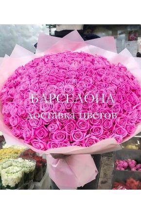 201 розовая роза 60 см.