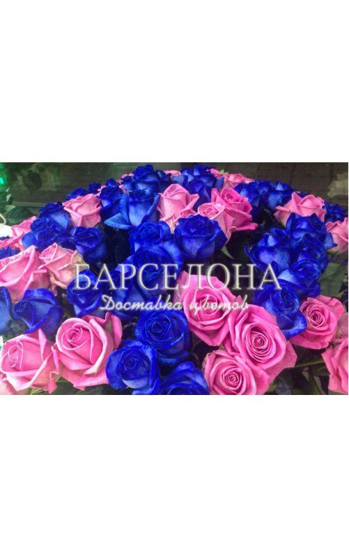 101 Синяя и розовая роза