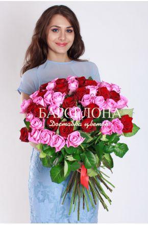 51 Красная и розовая роза