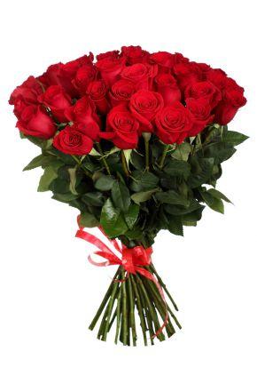 25 Красных роз 60 см. (Эквадор)