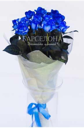 15 Синих роз 60 см.