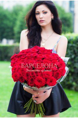 51 Красная роза 50 см
