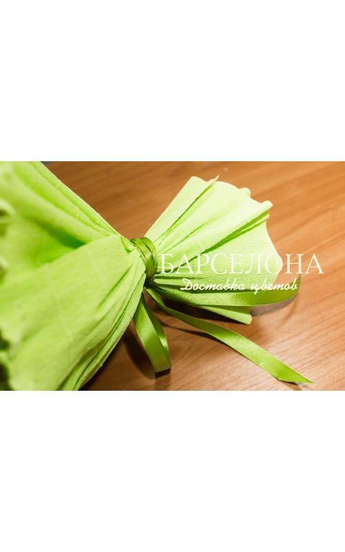 Букет из 9 мишек зеленый