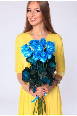11 голубых роз