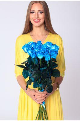 15 голубых роз