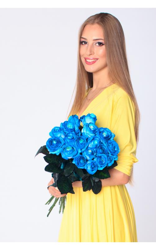 21 голубая роза