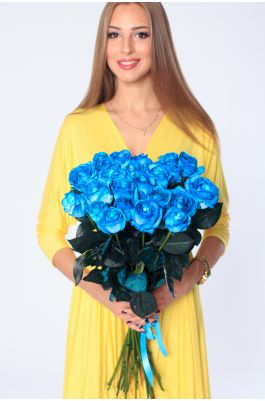 25 голубых роз