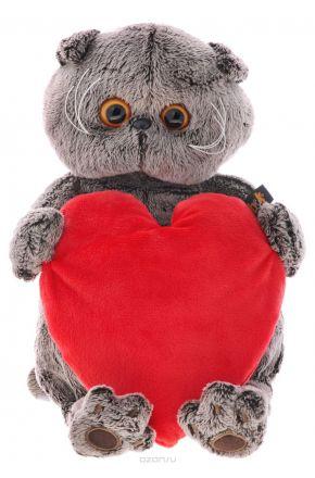 Басик с красным сердечком 22 см.