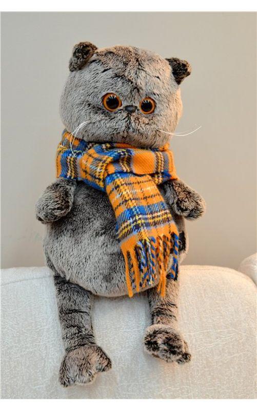 Басик и стильный шарф в клетку 25 см.