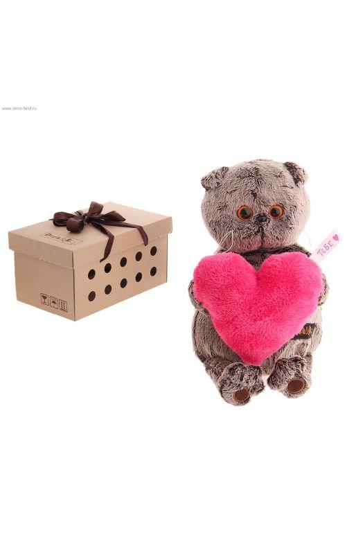 Басик с розовым сердечком 19 см.