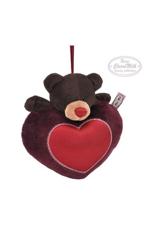 Медведь Choco на сердце 20 см.