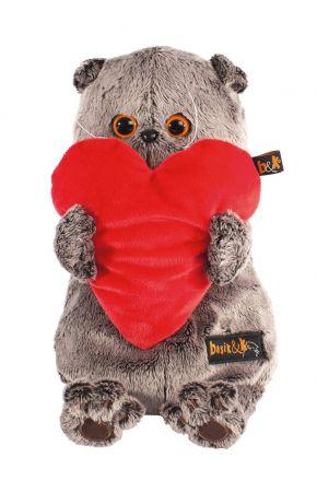 Басик с красным сердечком 19 см.
