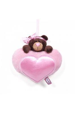 Медведь Milk на сердце 20 см.