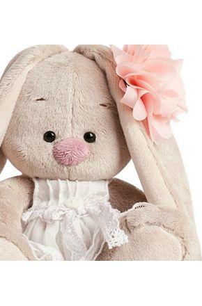 Зайка Ми в платье с цветком 15 см.