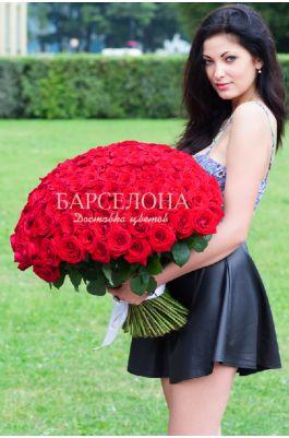 151 Красная роза 60 cм.