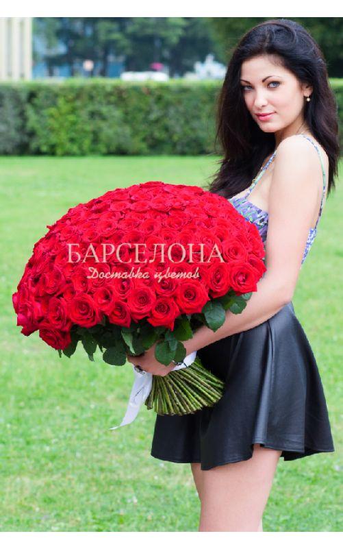 151 Красная роза 60 см.