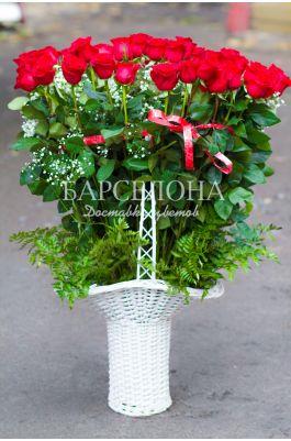 Корзина 51 роза Гран При 70 cм