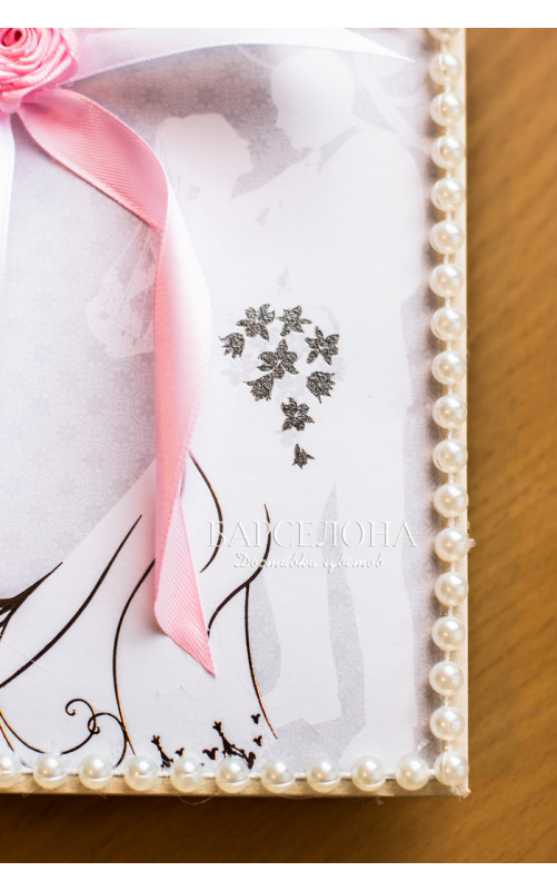 Открытка ручной работы свадебная