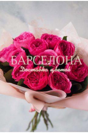 Букет из 11 пионовидных роз Baronesse