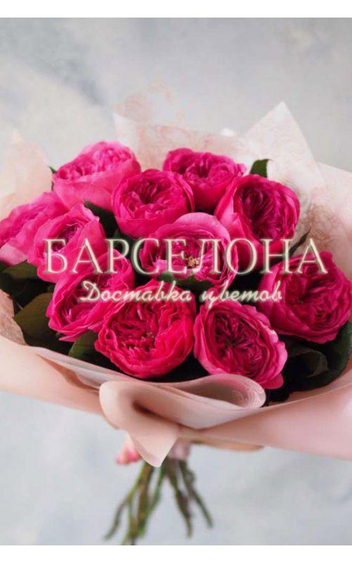 Букет из 11 пионовидных роз Баронесса (Baronesse)