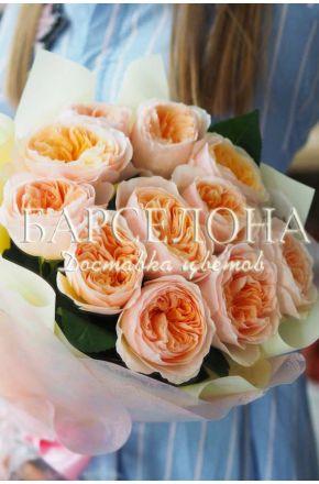 Букет из 11 пионовидных роз David Austin Juliet