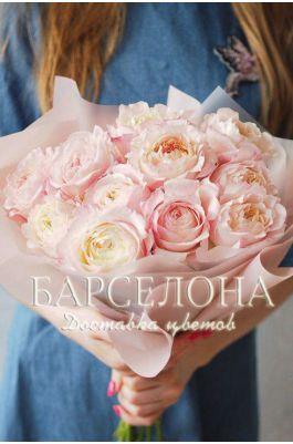 Букет из 11 пионовидных роз David Austin Keira