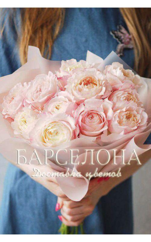 Букет из 11 пионовидных роз Дэвида Остина Кейра (Keira)