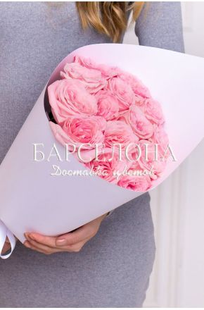 Букет из 11 пионовидных роз Pink O'Hara