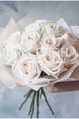 Букет из 11 пионовидных роз White O'Hara