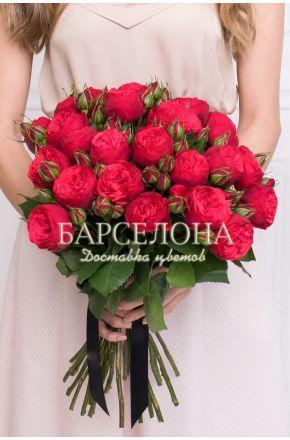 Букет из 15 пионовидных роз Red Piano