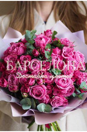 Букет из 19 пионовидных роз Misty Bables