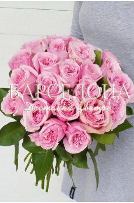 Букет из 23 пионовидных роз David Austin