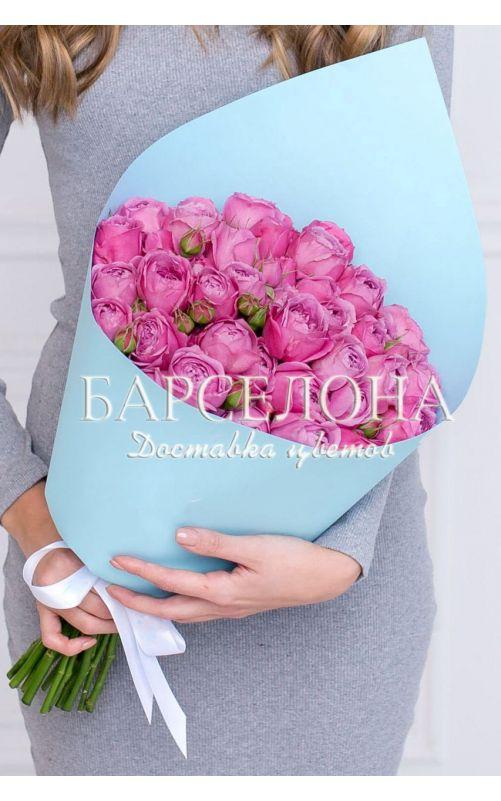 Букет из 19 пионовидных роз Мисти Баблс