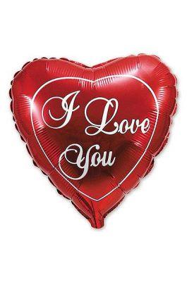 "Шарик сердце ""I love you"""