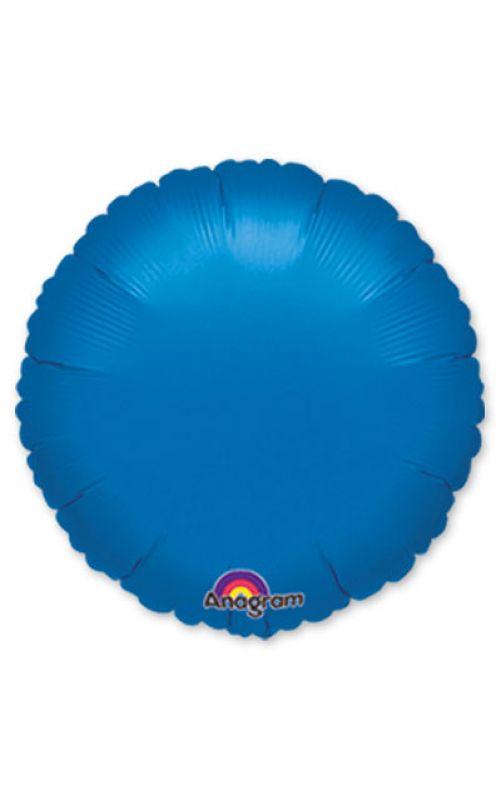 Шарик  круг металлик синий