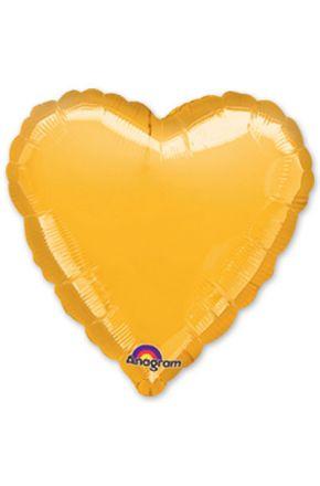 Шарик сердце желтый