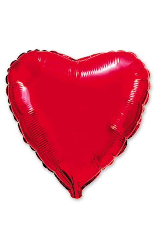 Шарик сердце красный