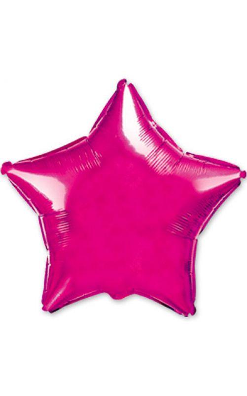 Шарик  звезда металлик розовый