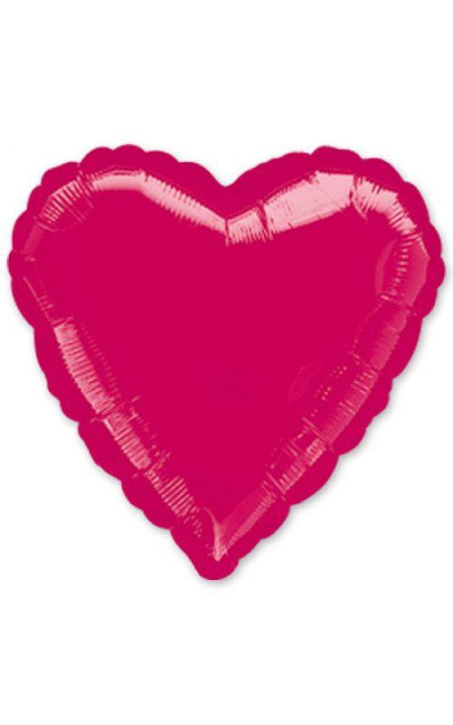 Шарик сердце розовый