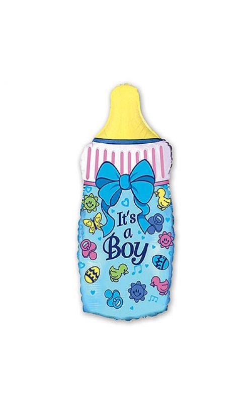 Шарик для мальчика Бутылка голубая