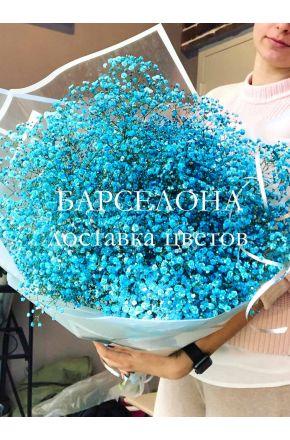 Букет из 11 голубых гипсофил