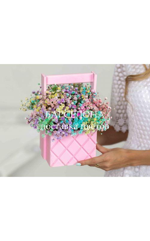 Композиция из гипсофилы розовая mini