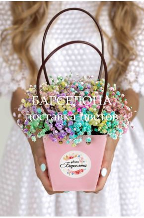 Композиция в розовой сумочке mini