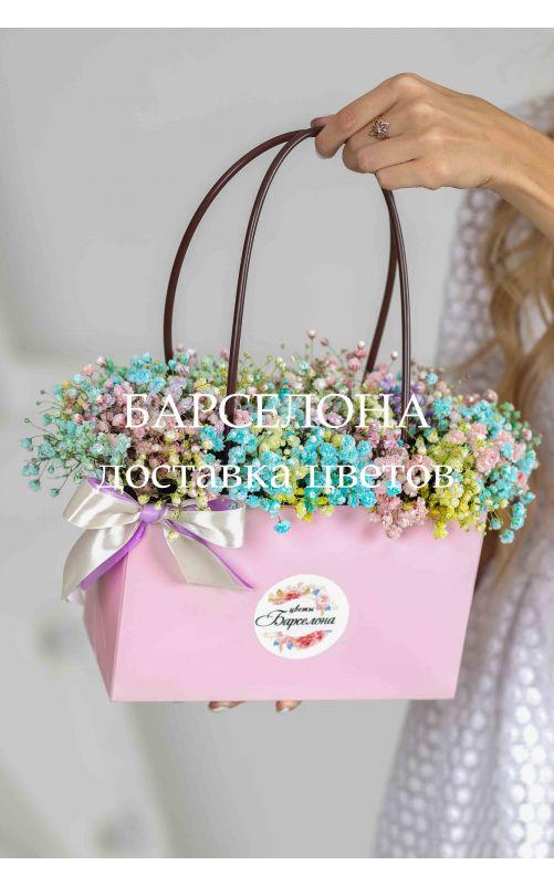 Композиция в розовой сумочке XL