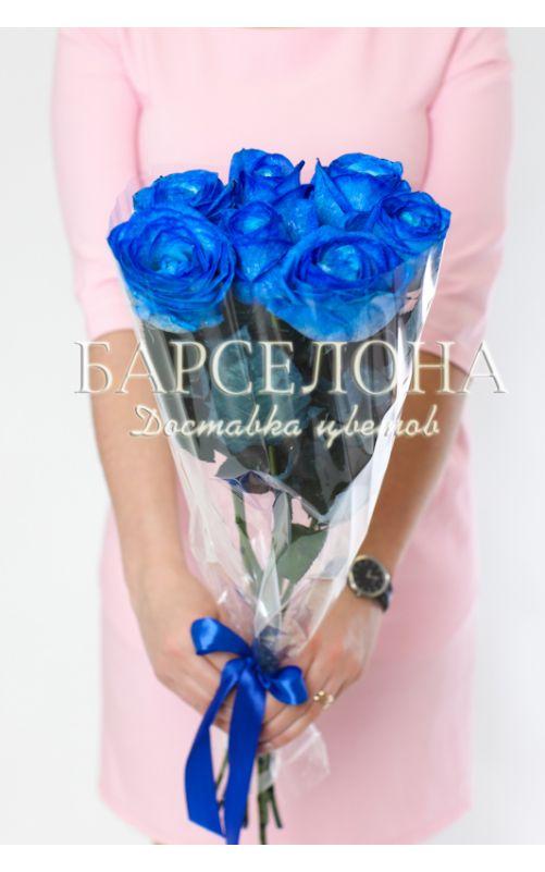 7 синих роз