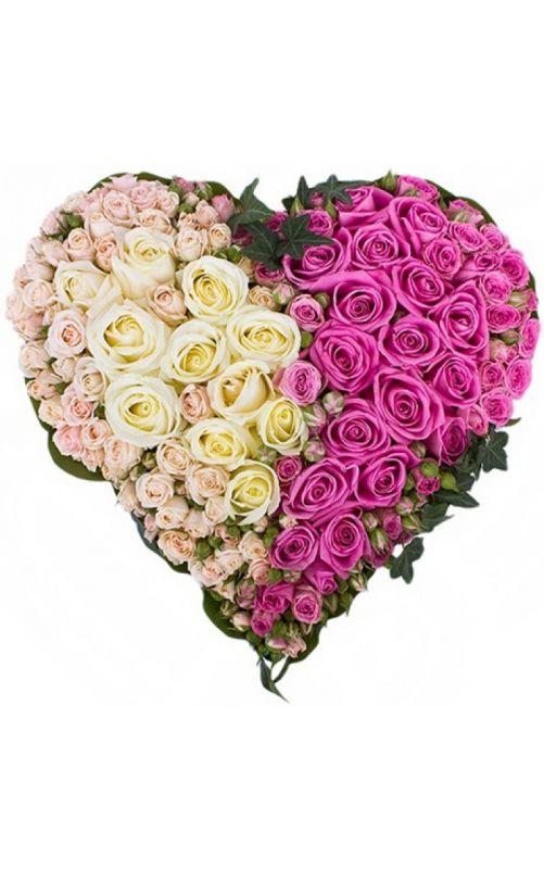 Букет сердце из роз