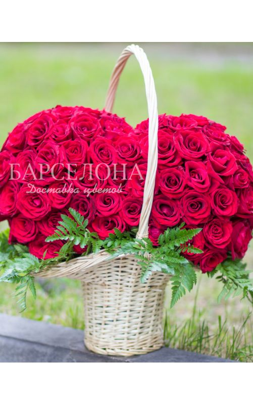 Сердце 151 роза 3D